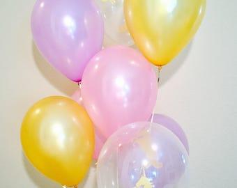 Unicorn Balloons, Gold, Pink and Purple, Pastel Latex, Pastel Balloons, Unicorn Party, Pink and Gold Party, Gold Unicorn Latex Balloon