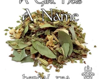 Game of Thrones Tea, A Girl Has A Name, Arya Stark, loose leaf herbal tea, citrus mint tea, Game of Thrones gift, fandom tea, Winterfell