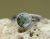 Ocean Jasper Stacking Set - Silver Stackers - Stacking Rings - Size 7.5 - One of a Kind - Stackable - Ocean Jewelry - Summer Fashion