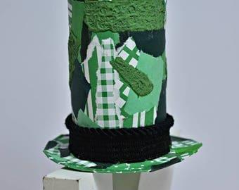 Fascinator, Top Hat Fascinator, Mini Top Hat, Kentucky Derby Fascinator, Cosplay, Costume Accessories, Woman Top Hat, St Patricks Day Hat