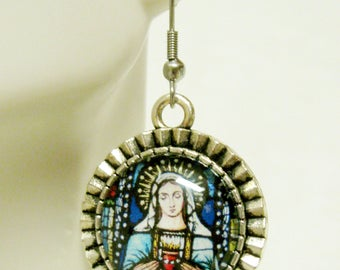 Immaculate  heart of Mary earrings - AP03-230