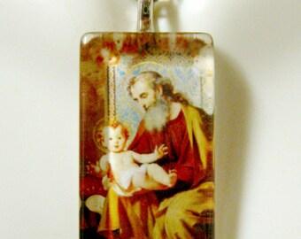 Saint Joseph pendant with chain - GP12-237