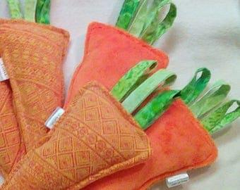 One Wrap Scrap Carrot - Plush Vegetable Toy - Didymos Stroopwafel Prima - Rattle Stroller Toy