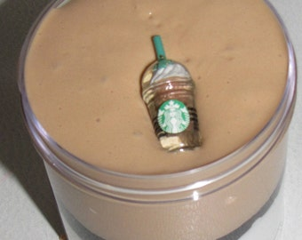 6 oz smores starbucks frappuccino inspired slime party favors gifts stress relief charm included
