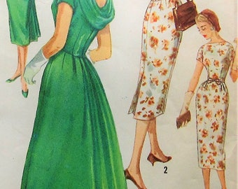 Vintage Dress Sewing Pattern Simplicity 2411 Size 18 Plus Size
