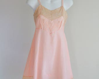 1920s Laurel Weave, Silk Step In Cami-Teddy - size xS