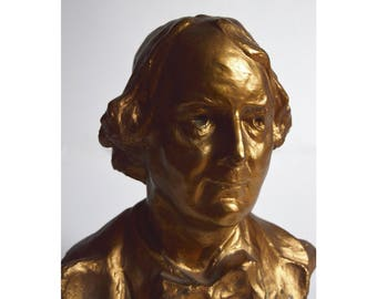 ROYCROFT terra-cotta ELBERT HUBBARD sculpture Jerome Connor bust