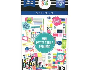 Faith Mini Create 365 Happy Planner Sticker Value Pack Mini (994/Pkg) Me & My Big Ideas (PPSV-33-3048)