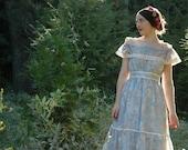 Boho / 1970s / Dress / Gunne Sax / Pastel / Floral / Off The Shoulder / Bohemian / Boho Dress for Women