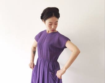 Purple days, Japanese vintage summer dress, small - medium
