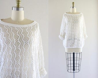 oversized cut out top / one size
