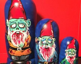 Zombie Gnome Nesting Dolls
