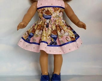 18 inch doll clothes - Pink Beauty and the Beast Dress made to fit the American Girl Doll - FREE SHIPPING