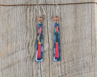 TIE DYE DAZE / Wood Earrings / Women's Jewelry / Gifts For Her / Sustainable / Earrings / Acrylic Painting / Art / Art Jewelry