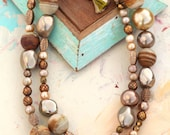 Long Brown Bauble Necklace