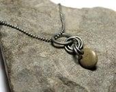 """Plage Pierre collier - foré River Rock Pebble Stone - Antique oxydé Silver Beach Rock Double forés Pierre - 18"""" terreux bijoux"""