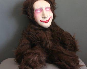 Stuffed Animal Handmade Smiling Teddy Bear Stuffed Toy