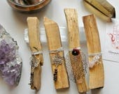 Sustainably Sourced Large Palo Santo Sticks // DIY Crystal Elixir // Smudging Kit // Cleansing Space Kit // Holy Wood //  Large Palo Santo