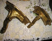 Vintage Italian Florentine Gilt Wood Boudoir Shelves/Wall Art.Paris Apartment Chic.