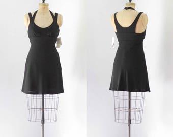 Vintage 1990's Designer Nicole Miller Halter Dress