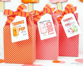 Frozen Pop Tag Set : Print at Home Full-Color Template | Ice Pop Gift Tag | Frozen Treat | DIY Printable | Digital File - Instant Download