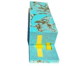 3.5 lb Soap Loaf -SOAP -  Cocoa de Menthe vegan handmade soap loaf, wholesale soap, wedding favors, soap gifts, FREE SHIPPING