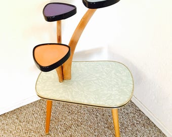 Atomic Table Mid Century Modern Plant Table Etagere German Flower Bench Side Table End Table Display Table Retro Vintage