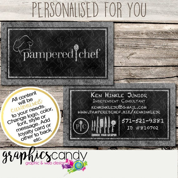 Pampered chef independent consultant business card design chalk il570xn colourmoves
