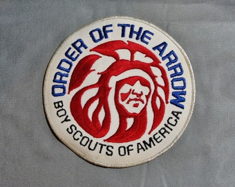 """Vintage 1970's Boy Scouts Of America Order of The Arrow Large Size Jacket Patch 6"""""""