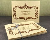 Vintage Style Thank You Card (Set of 10)