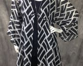 Black and White Chiffon Luna Cardigan O/S