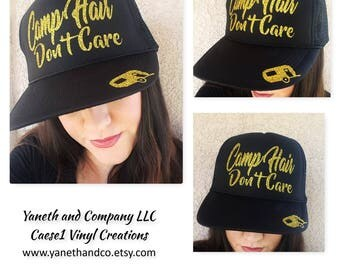 Camp Hair Don't Care Trucker Hat,Camp Hair Don't Care Truck hat,Camp Trucker Hat,Camp Hat,Campfire truck hat,Camper Trucker Hat,Camp hat