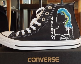 HALSEY Custom Converse hand painted unique detailed sneakers Order this design or let's plan your unique pair!