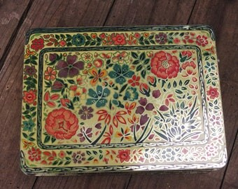 Antique Flower Box Tin