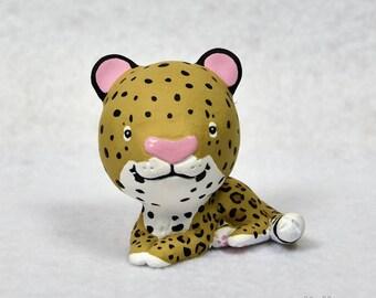 Hand Sculpted Leopard Derp Figurine