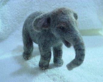 Needle Felted Baby Asian Elephant