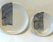 Two Small Binary Tears in Rain Lithographed Plates