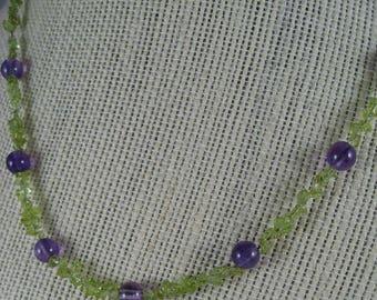 Peridot & Amethyst Necklace
