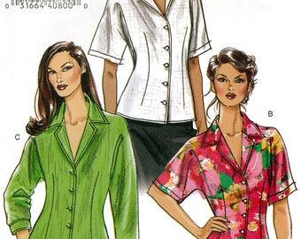 Vogue V8248 Sewing Pattern for Misses' or Misses' Petite Shirt - Uncut - Size 14, 16, 18, 20
