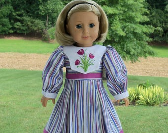 """Embroidered Autumn Dress / Doll Clothes for American Girl® Kit, Melody, Maryellen or Other 18"""" Doll"""