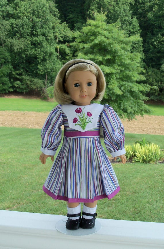 "SUPER SATURDAY SALE! Embroidered Autumn Dress / Doll Clothes for American Girl® Kit, Melody, Maryellen or Other 18"" Doll"