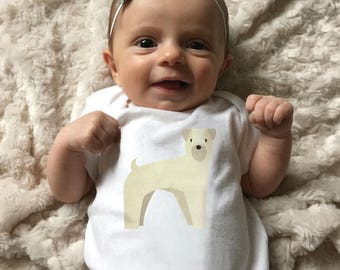 Wheaton Terrier baby clothing, Wheaton Terrier baby bodysuit for baby boy or baby girl