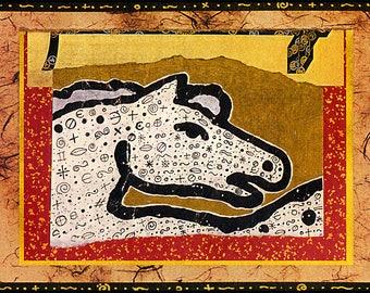 Epona Handmade Archival 5 x 7 Blank Greeting Card