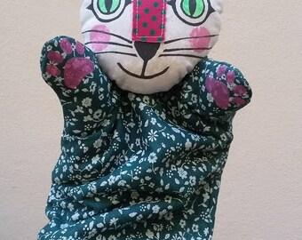 cat ... hand puppet
