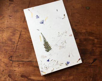 "Petal Paper 8"" x 5"" BFK Sketchbook Accordion Book or Wedding Guest Book"