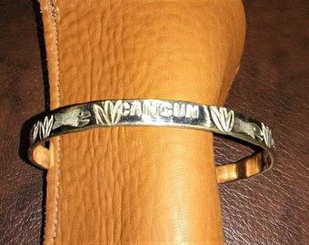 Cancun Solid Sterling Silver Bangle Bracelet