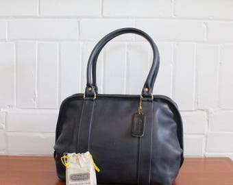 Vintage Coach Bag // Speedy Doctor Handbag Navy // Coach Boston Soft Satchel