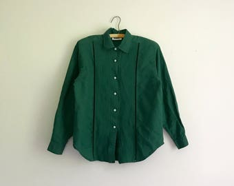 vintage forest green Gitano western button up blouse - size M