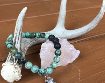 Gemstone Bracelet African Turquoise