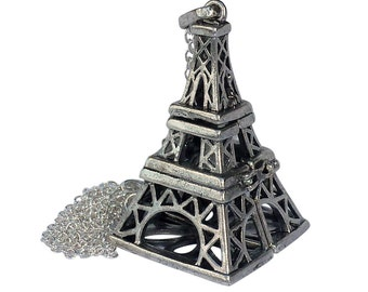 YOur perSOnal STYlish Essential oil necklace diffuser Steampunk Eiffel Tower d1 0